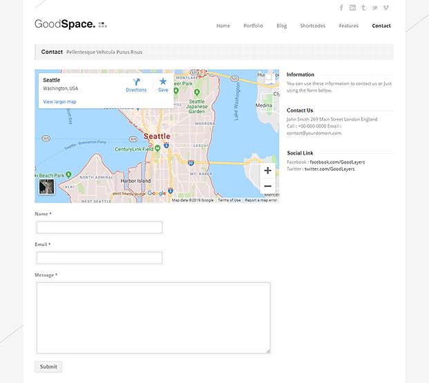 Contact - Minimal WordPress Portfolio Theme
