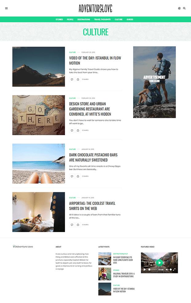 Culture - Best WordPress Magazine Theme