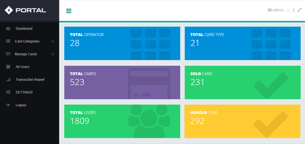 Dashboard - Card Selling PHP Script
