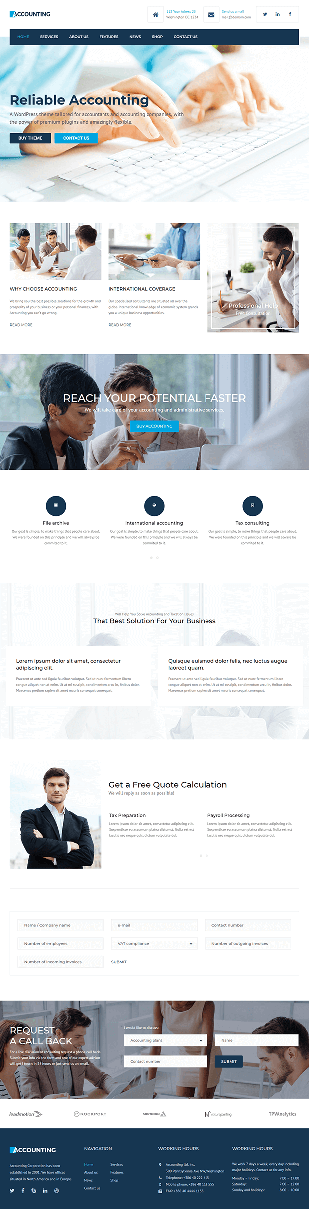 Demo - Accountant WordPress Theme