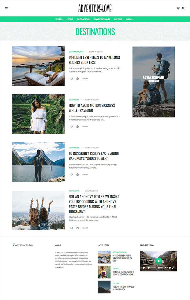 Destinations - Best WordPress Magazine Theme