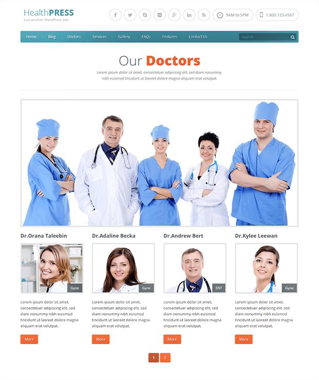 Doctors - WordPress Theme For Health