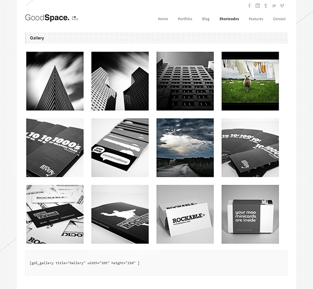 Gallery - Minimal WordPress Portfolio Theme