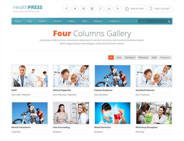 Gallery - WordPress Theme For Health