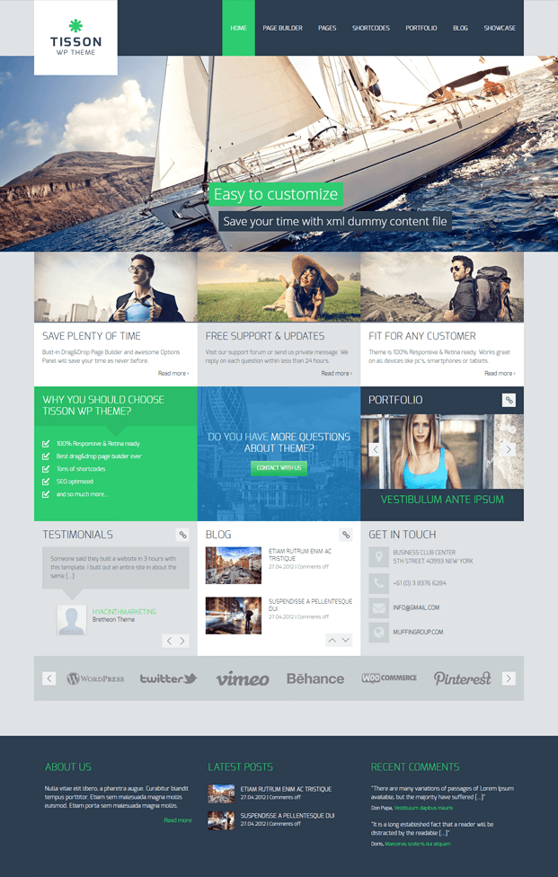 Home - Responsive WordPress Business Theme