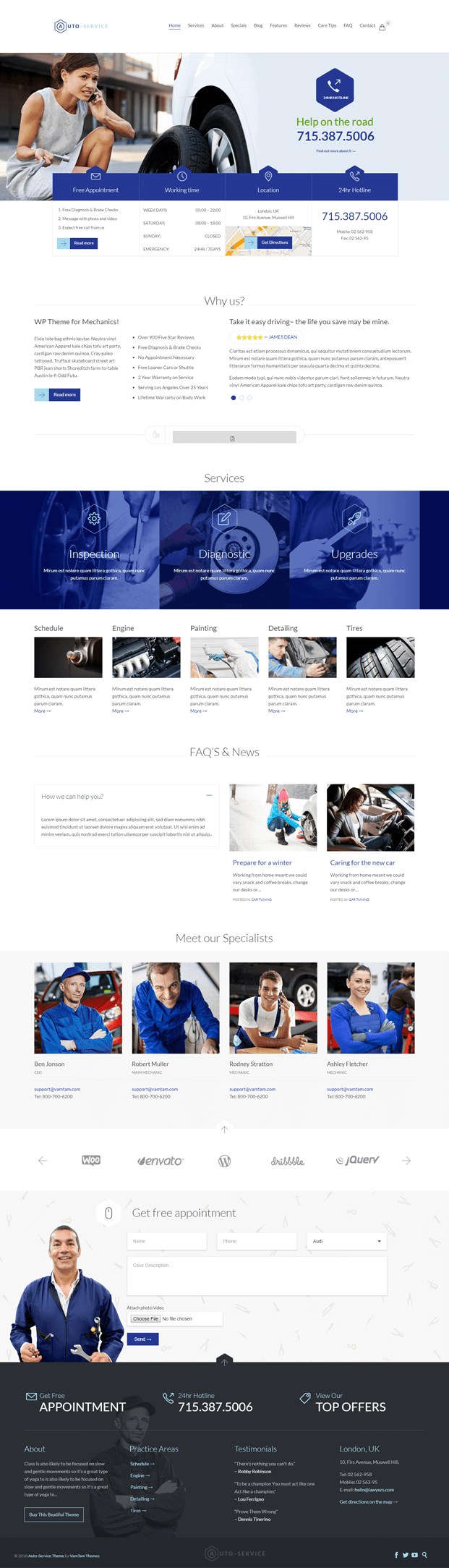 Home - WordPress Auto Repair Theme