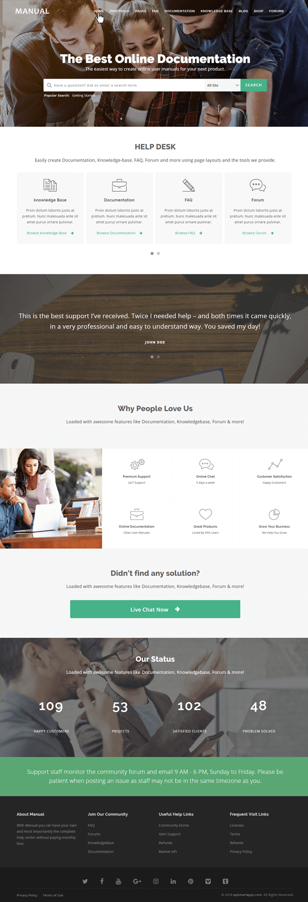 Home - Documentation WordPress Theme