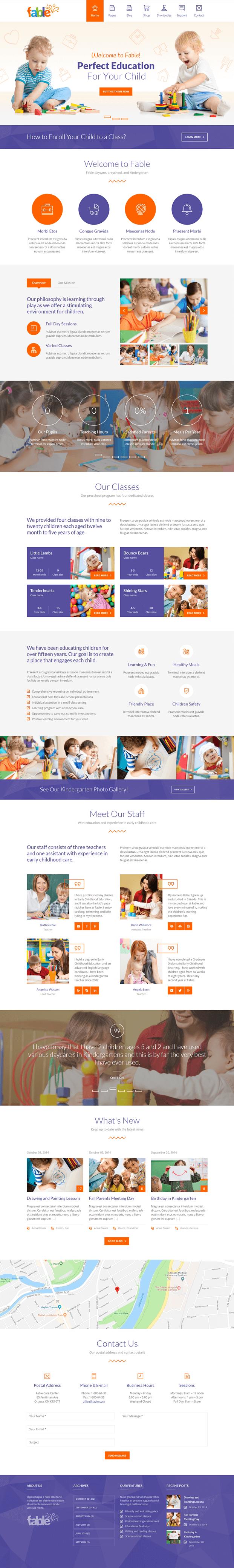 Home - WordPress Theme Kindergarten