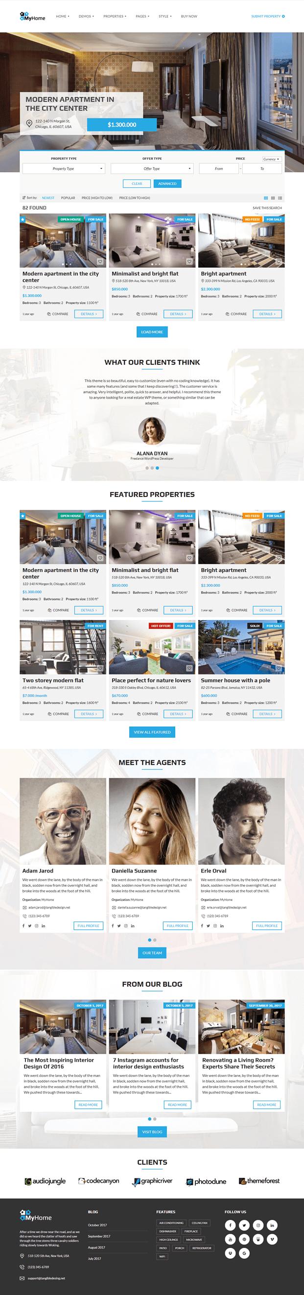 Home - Real Estate Agency WordPress Theme