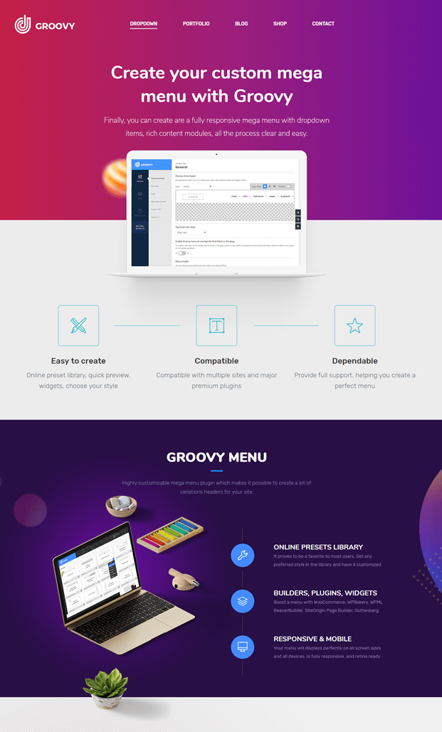 Home Page - WordPress Mega Menu Plugin