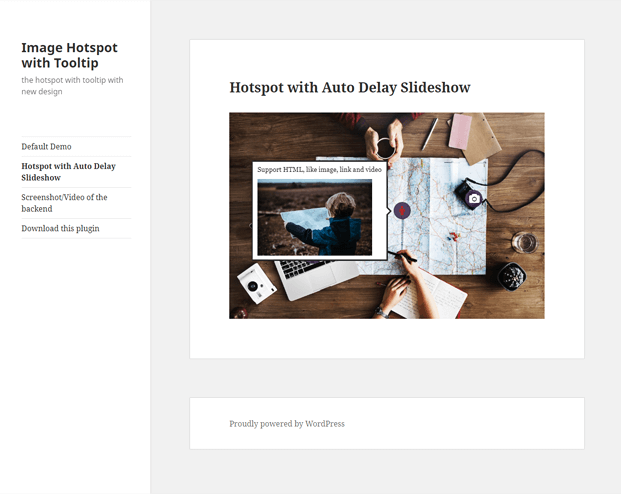 Slideshows -Image HotSpot WordPress Plugin