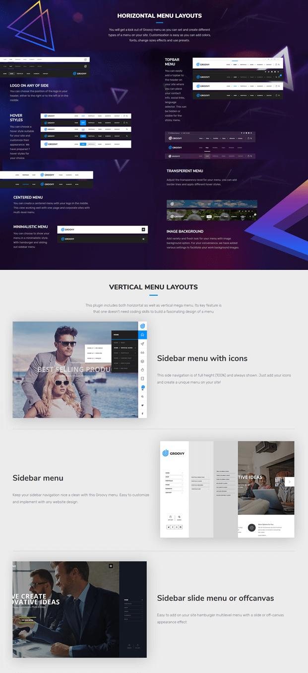 Horizontal Menu - WordPress Mega Menu Plugin