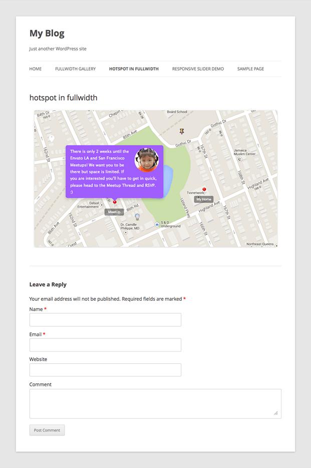 Locations -Image HotSpot WordPress Plugin