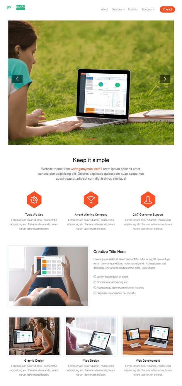 Home  -  Website Builder Script PHP