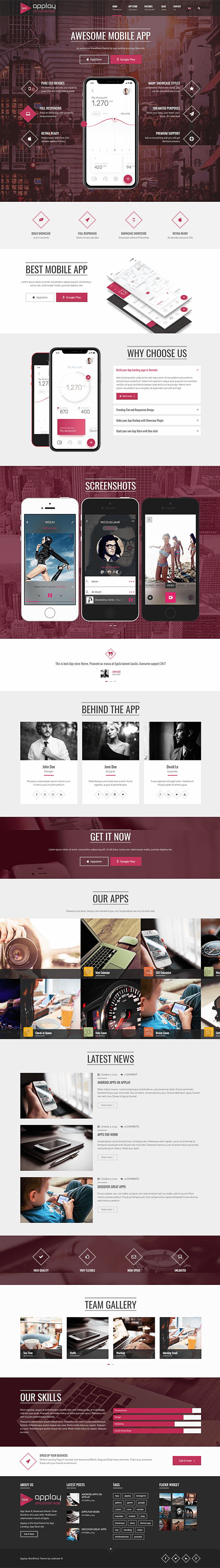 Home - App Store WordPress Theme
