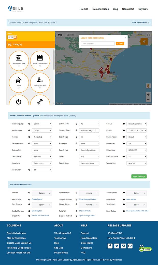 Locate Geoposition - Store Locator WordPress Plugin