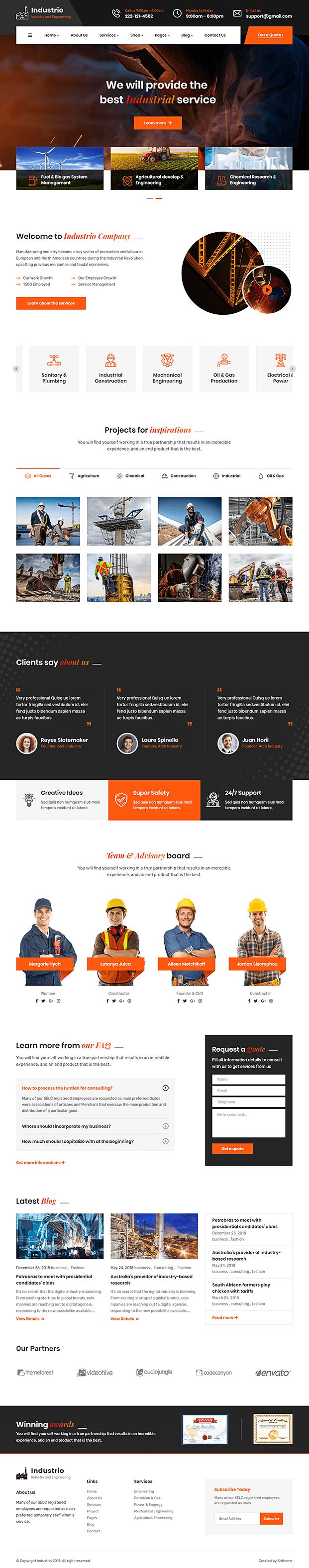 Home - Manufacturing WordPress Theme