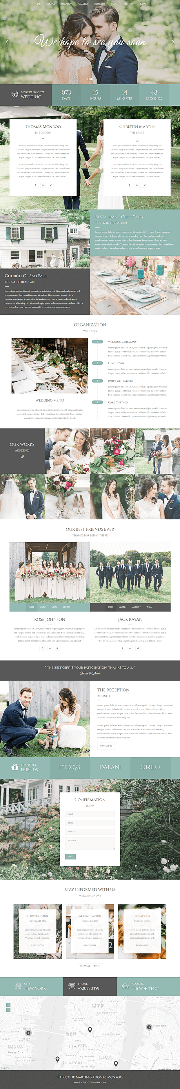 Home - WordPress Theme For Wedding Planner