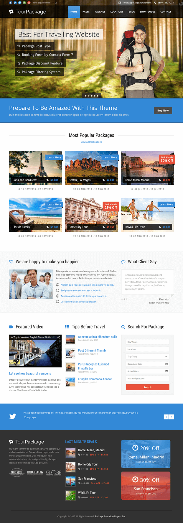Home - WordPress Theme For Travel