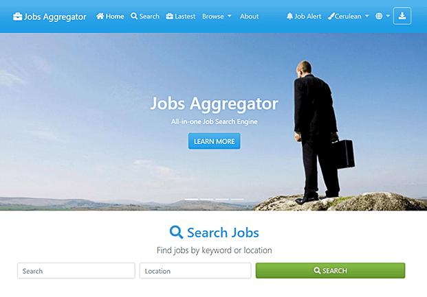 Home - Job Search Engine Script