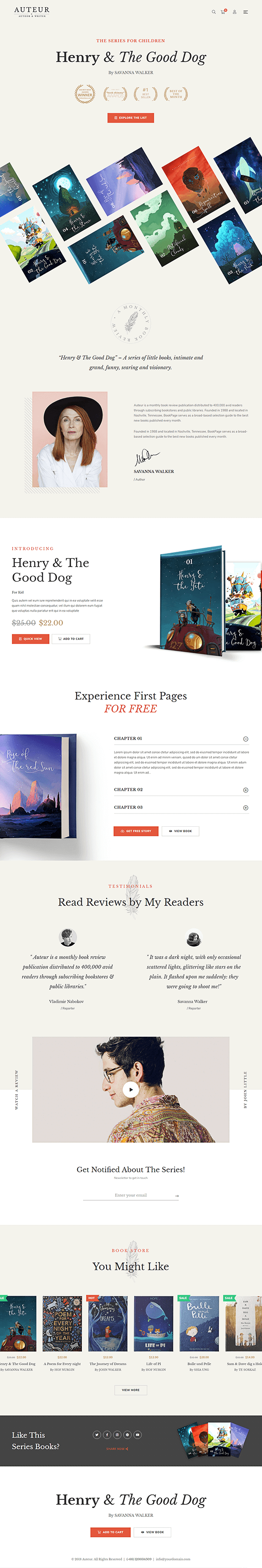 Home - WordPress Author Theme
