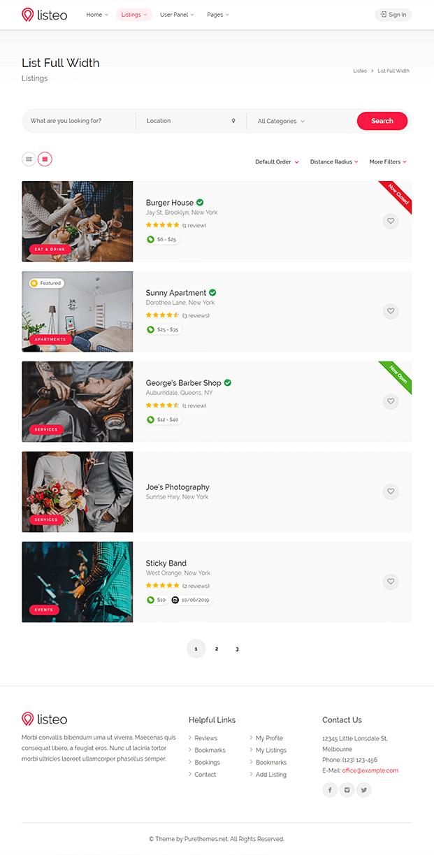 Listing- WordPress Best Directory Theme