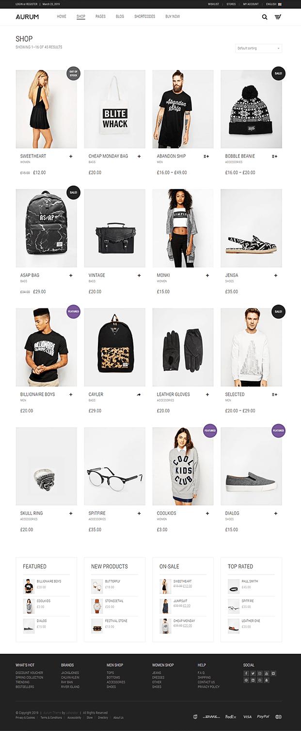 Shop - Shopping WordPress Theme