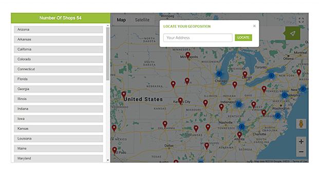 Number Of Stores - Store Locator WordPress Plugin