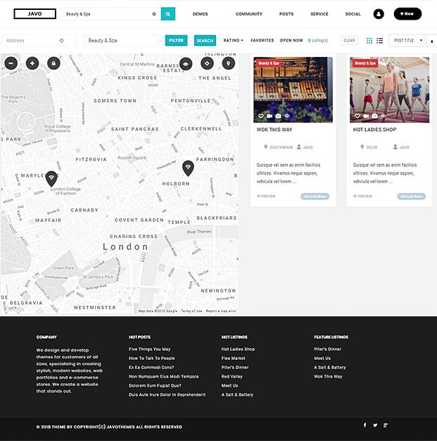 Maps - Listings WordPress Theme