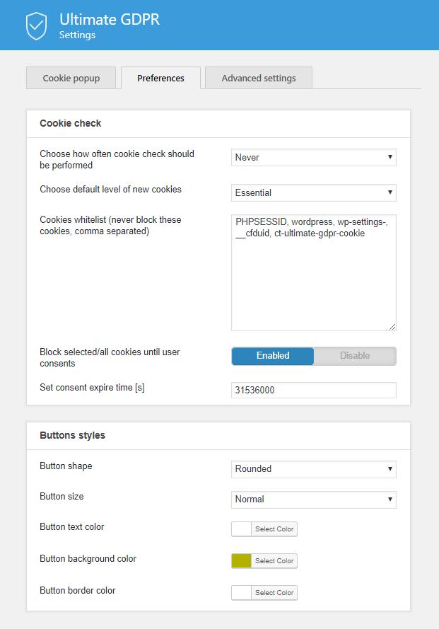 Preference - GDPR WordPress Plugin