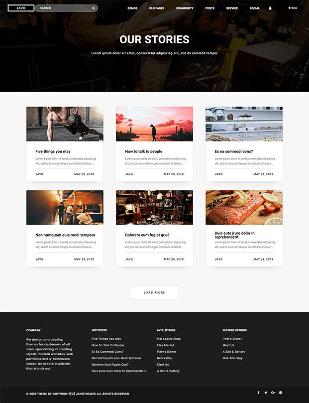 Post - Listings WordPress Theme
