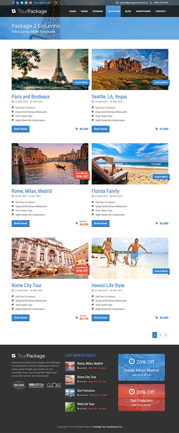 Locations - WordPress Theme For Travel