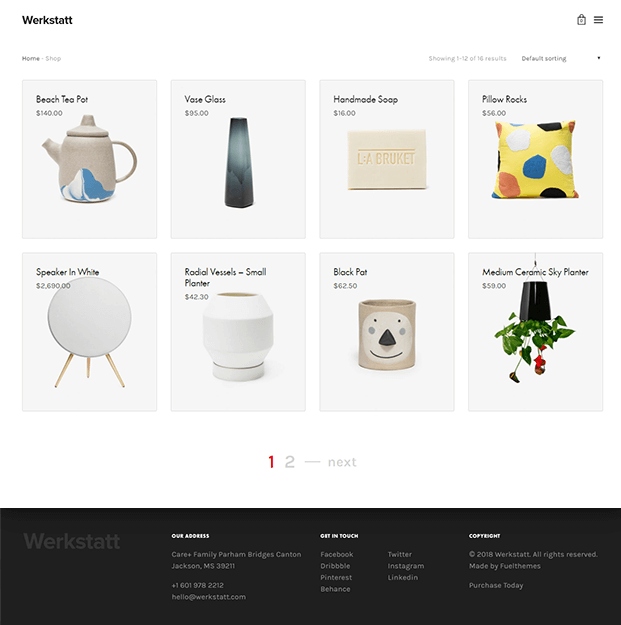 Shop - Best Portfolio WordPress Theme