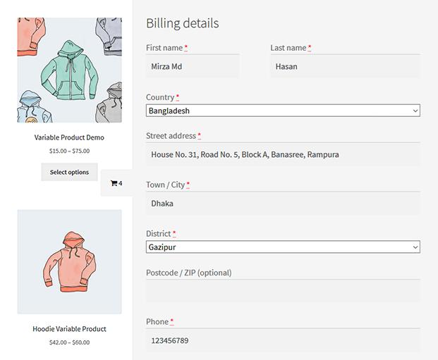 Billing Details - WooCommerce Checkout Plugin