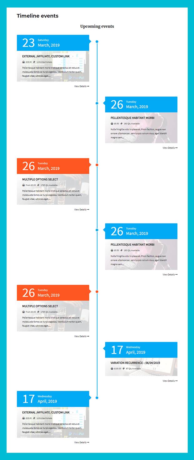 Event Timeline - WordPress Event Booking Plugin