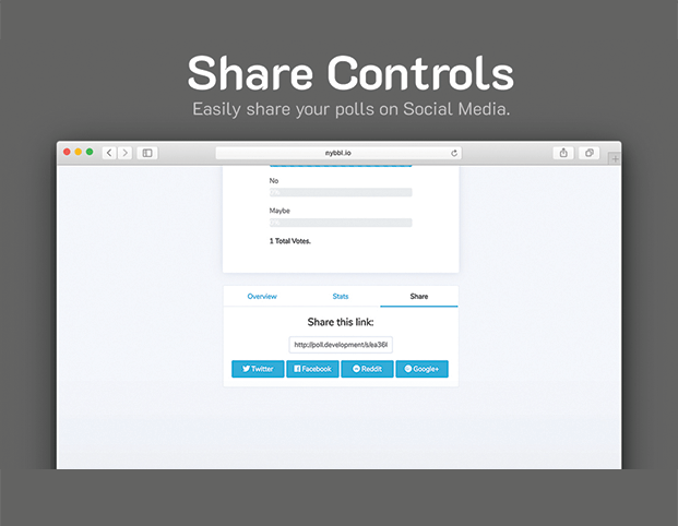 Share Controls - Poll PHP Script