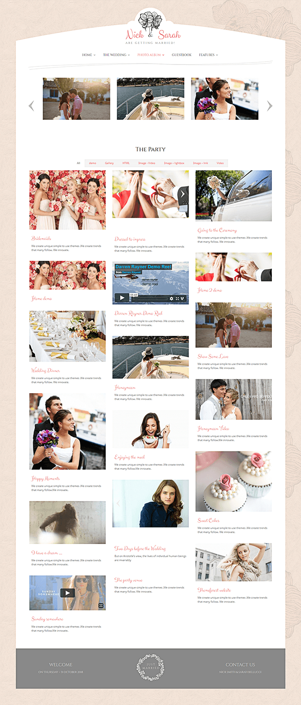 Photo Album - WP Wedding Theme