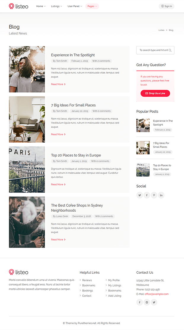 Blog - WordPress Best Directory Theme