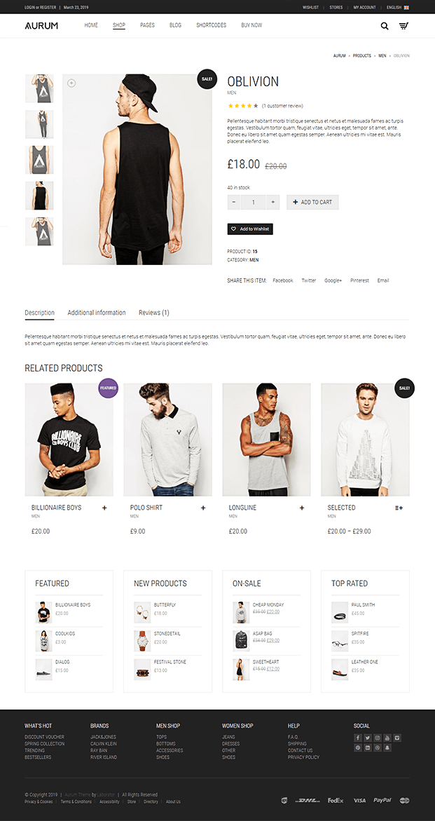 Product - Shopping WordPress Theme