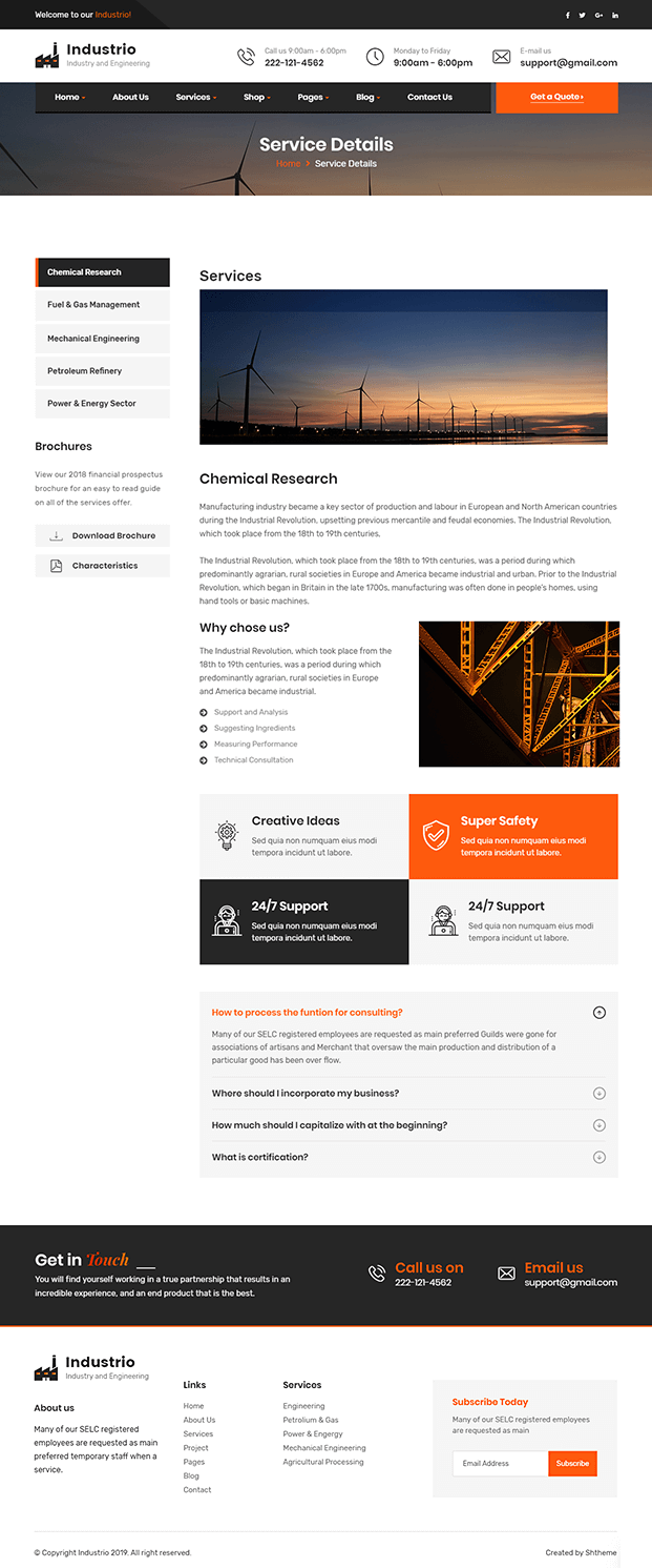 Service Details - Manufacturing WordPress Theme