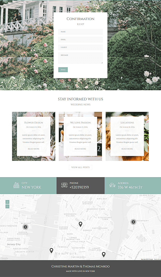 Confirmation - WordPress Theme For Wedding Planner