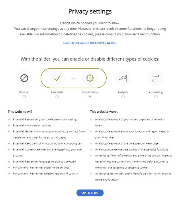 Privacy Settings - GDPR WordPress Plugin