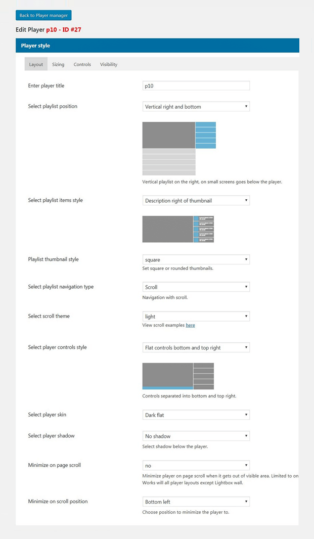 Layout - WordPress Custom Gallery Plugin