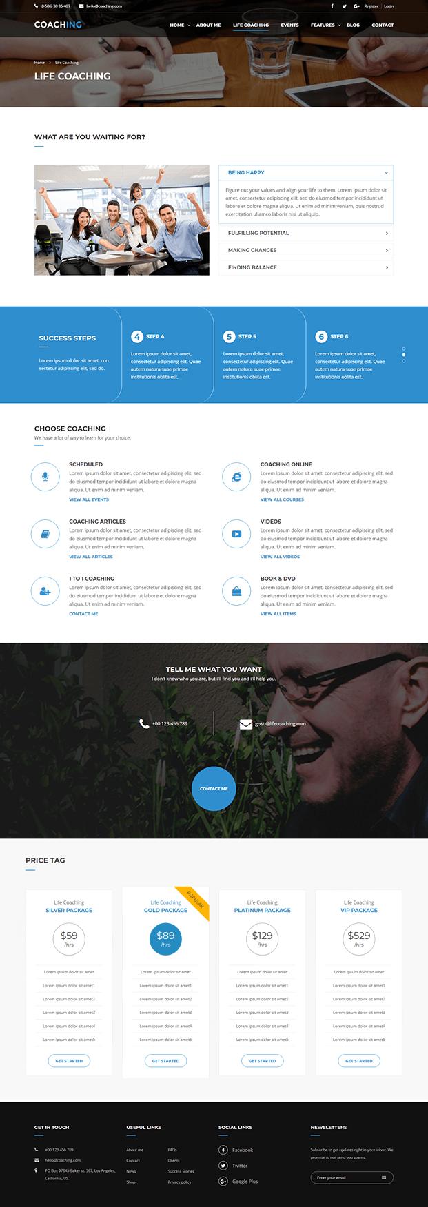 Life Coaching - Coaching WordPress Theme
