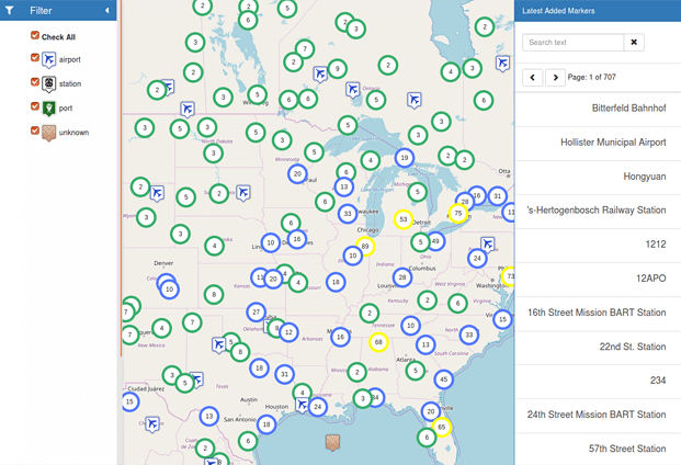 Filter - Server Side Clustering Google Maps