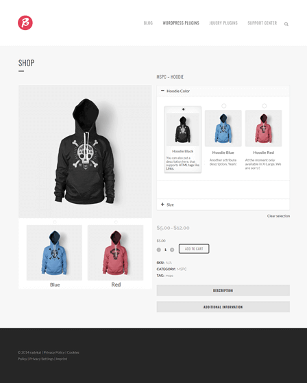 Product Configurator WordPress Plugin