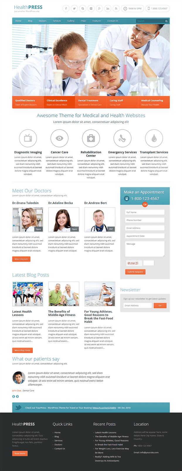 Home - WordPress Theme For Health