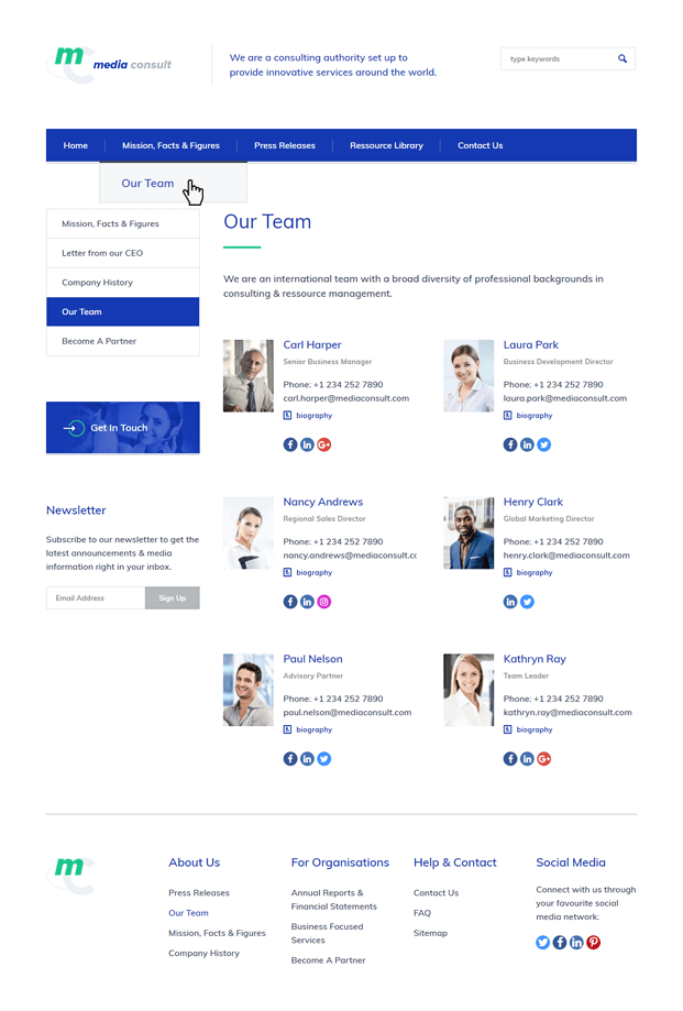 Team - Consulting Business WordPress Theme
