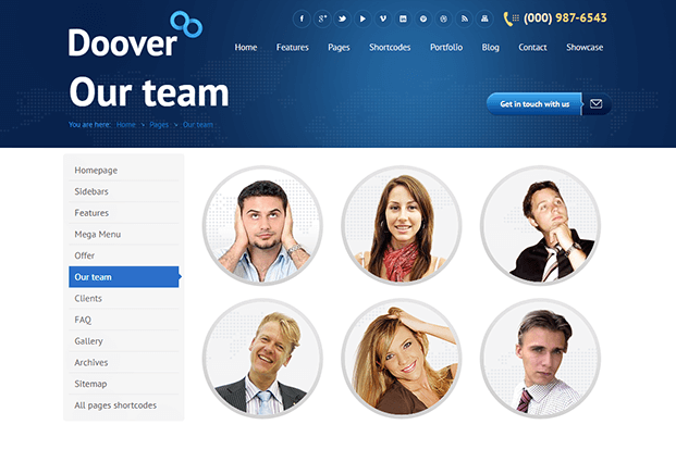 Our Team - WordPress Theme For Corporate Website
