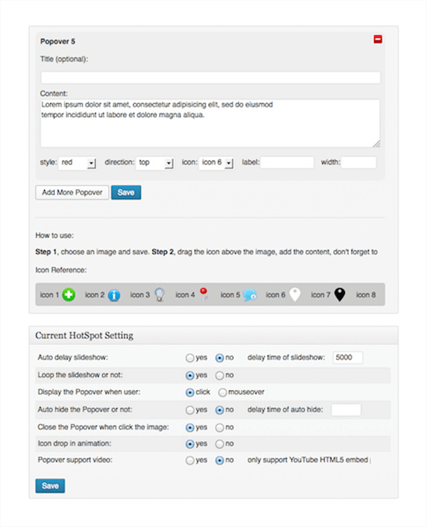 Popover -Image HotSpot WordPress Plugin